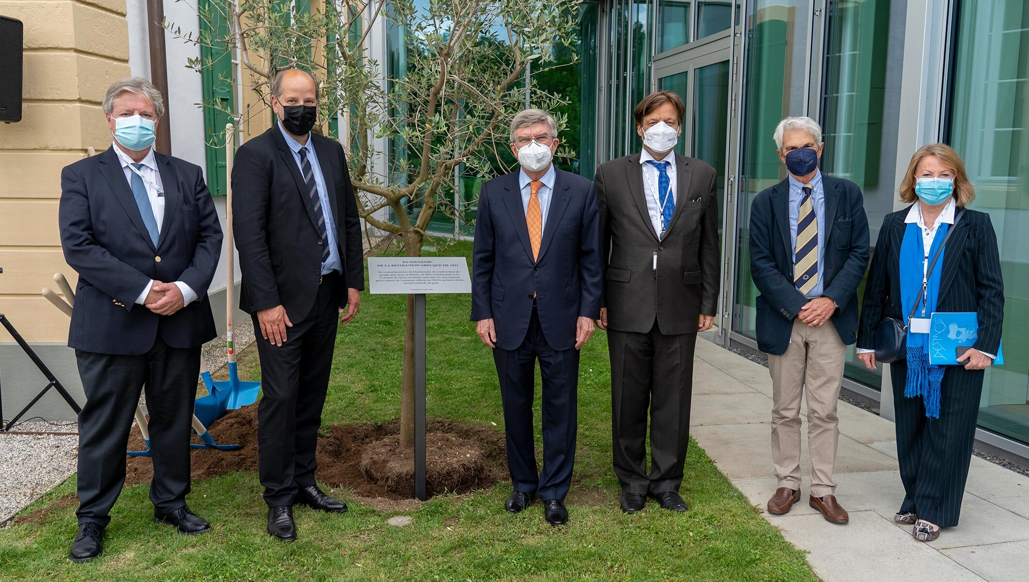 IOC President, Thomas Bach attends Olive Tree planting at Olympic House