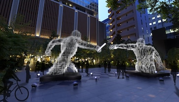 Rendering of the installation Solidarity + Collaboration