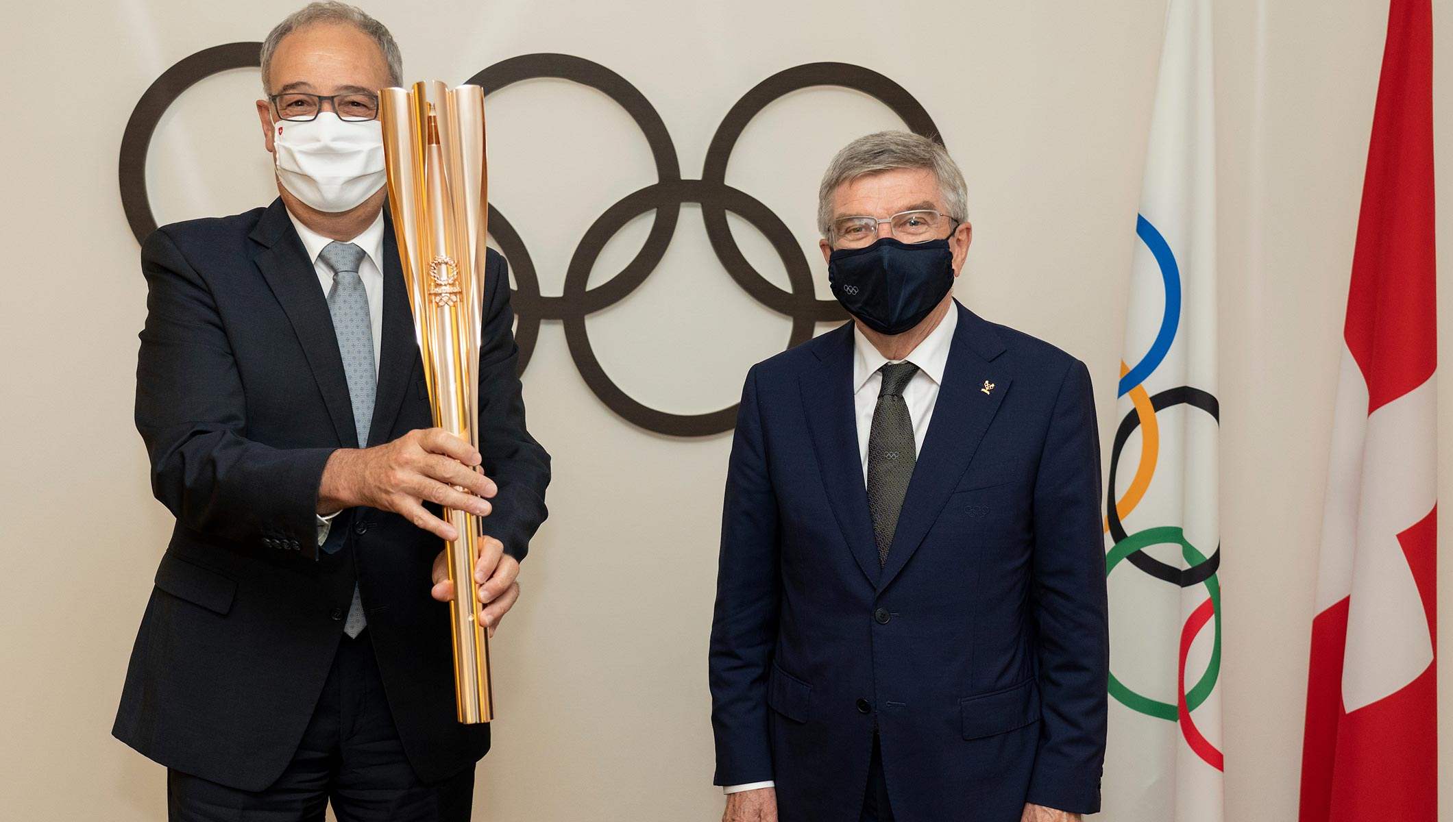 IOC President Thomas Bach meets President of the Swiss Confederation Guy Parmelin