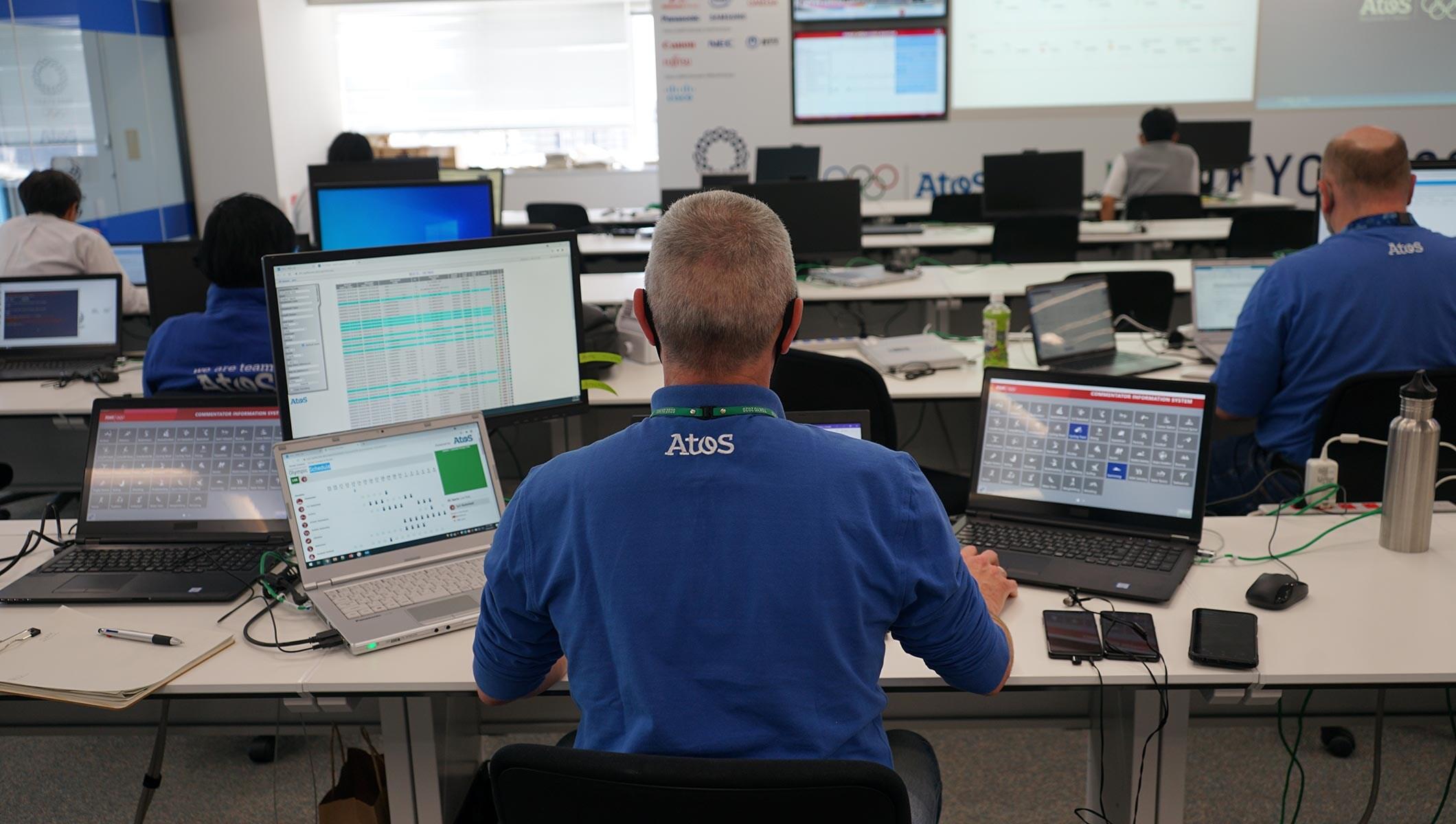Atos technology staff working at Tokyo 2020