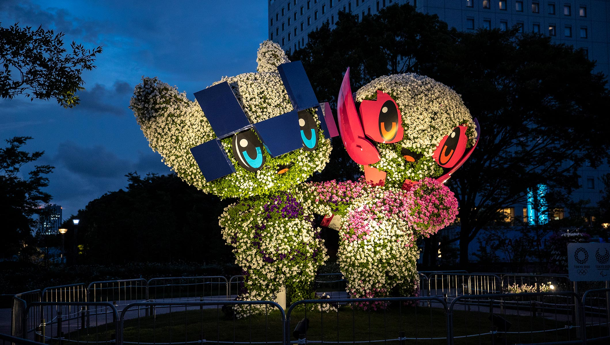 Floral arrangements of Mascots of Tokyo 2020 Olympic Games