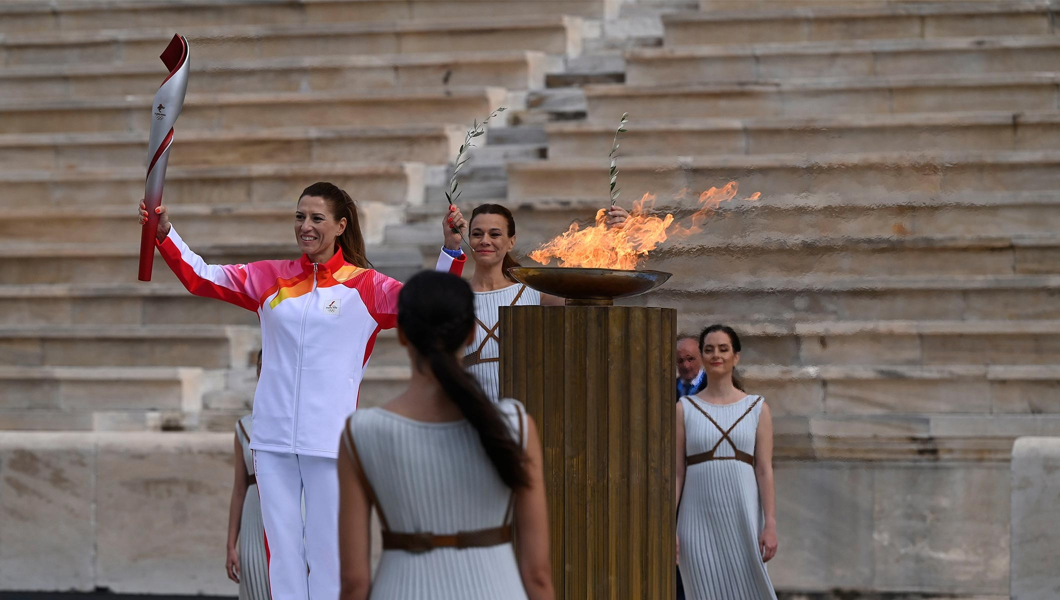 The Olympic flame for the Olympic Winter Games Beijing 2022