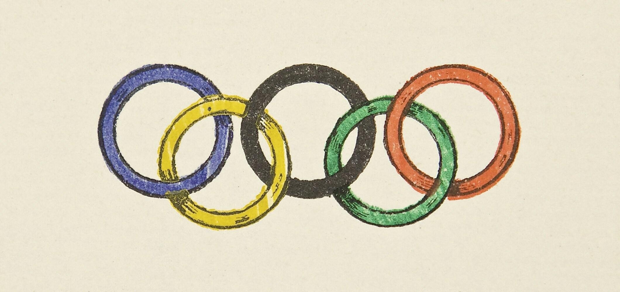 Les anneaux olympiques - 1913