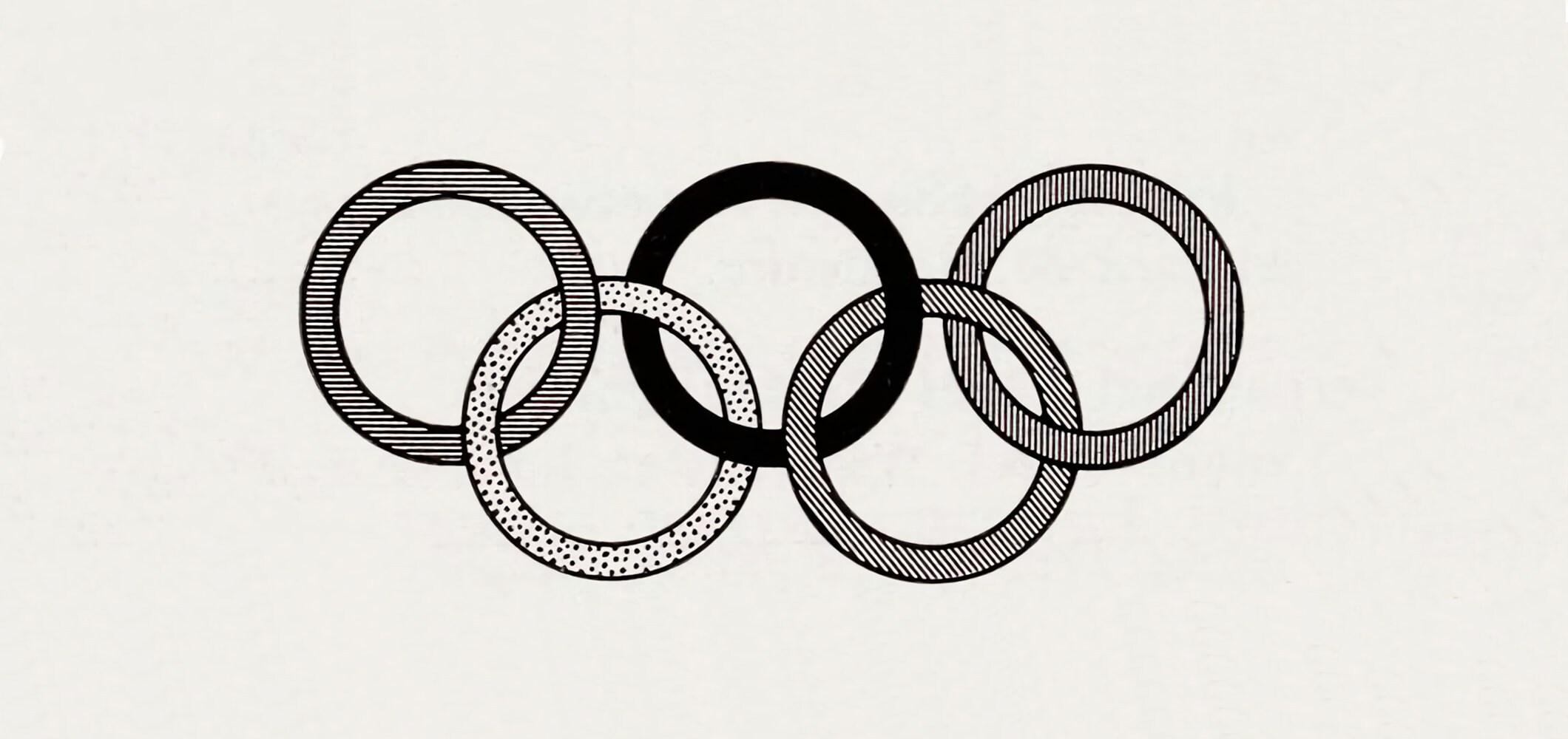 Les anneaux olympiques - 1957