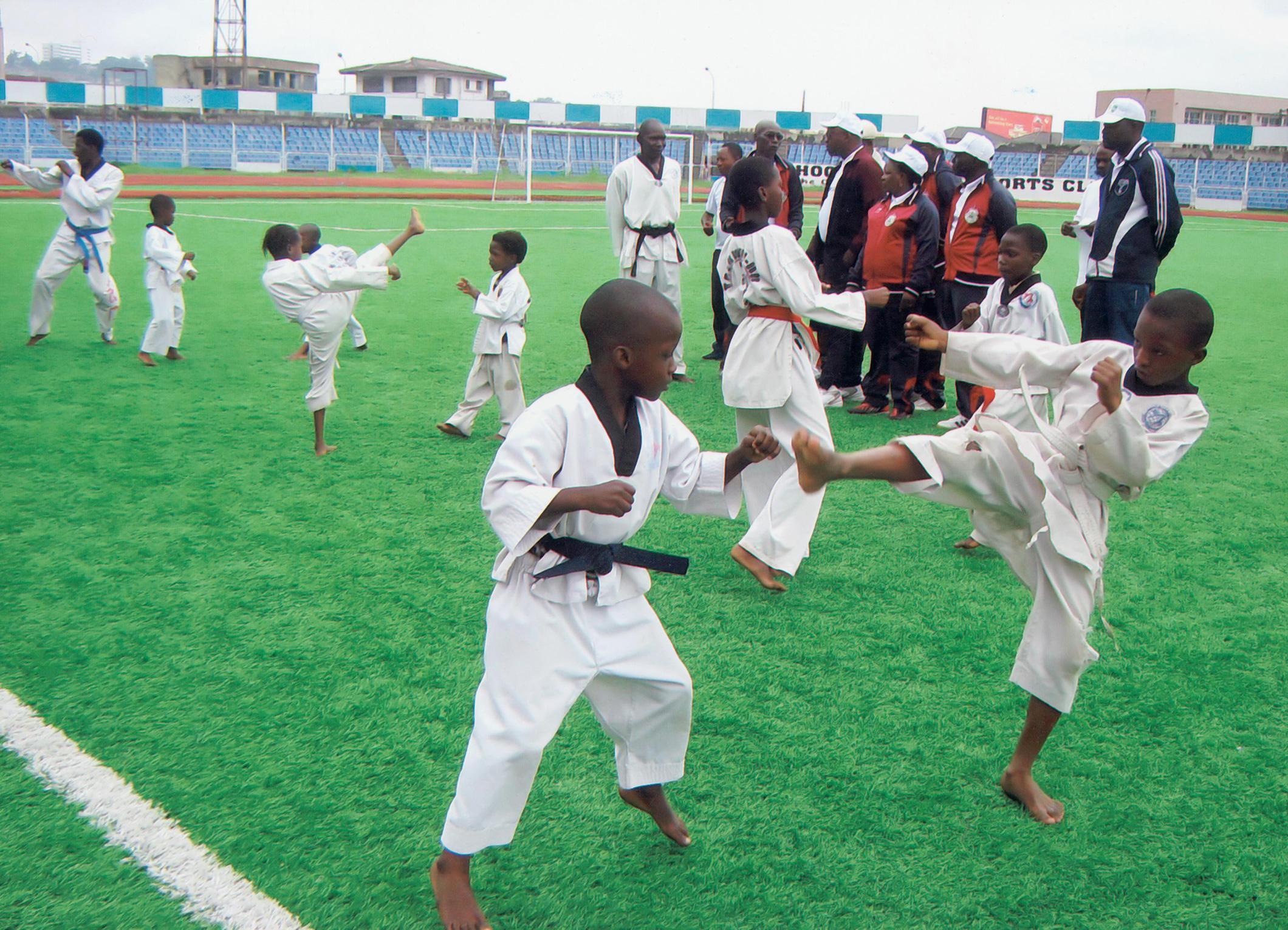 Journée olympique, taekwondo, Nigéria 2012