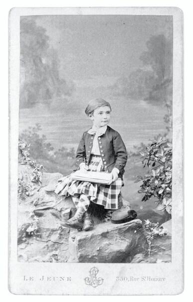 Baron Pierre de COUBERTIN aged six.