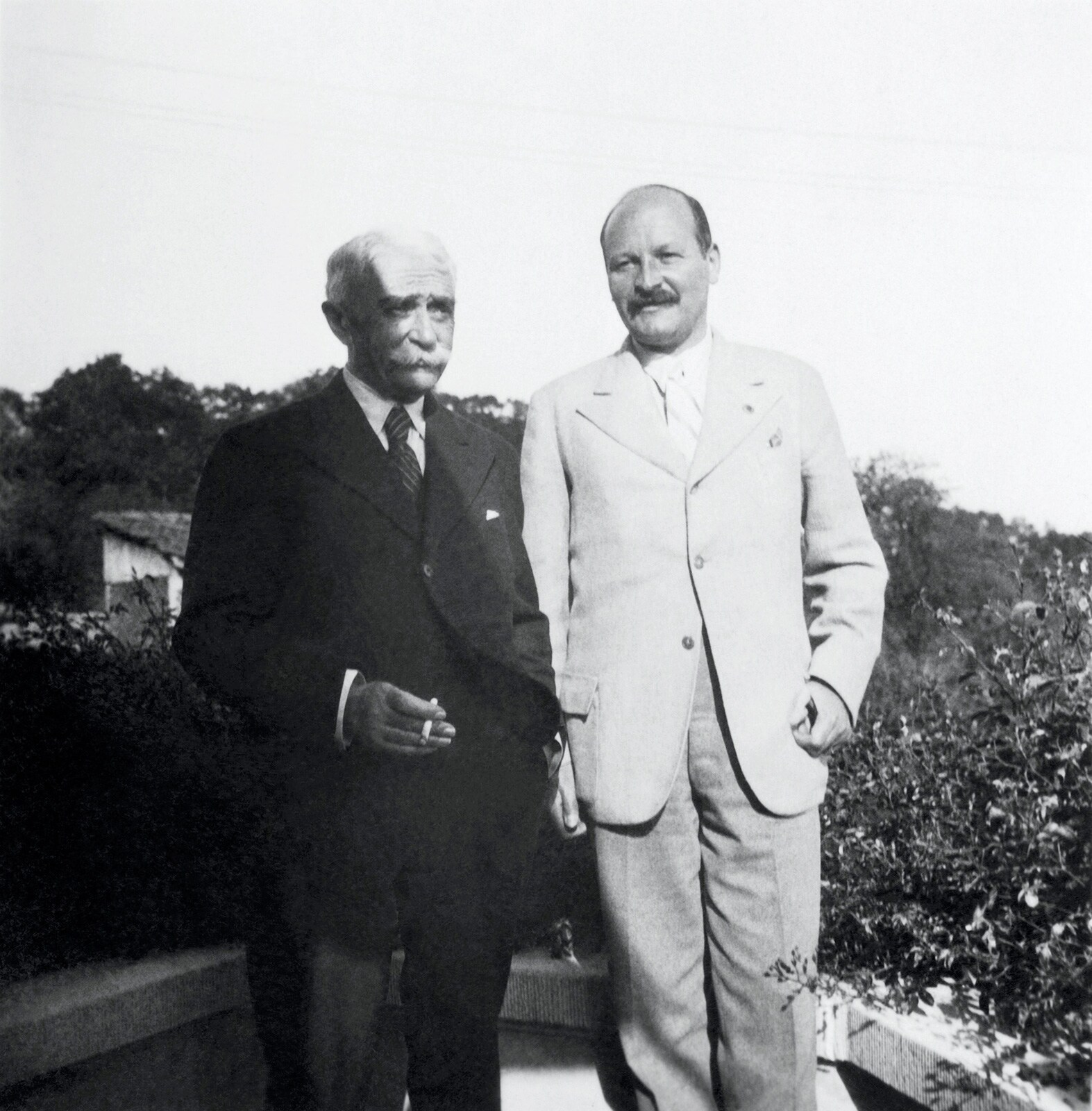 Baron Pierre de COUBERTIN and Thedor SCHMIDT, President of the National Olympic Committee of Austria (AUT).