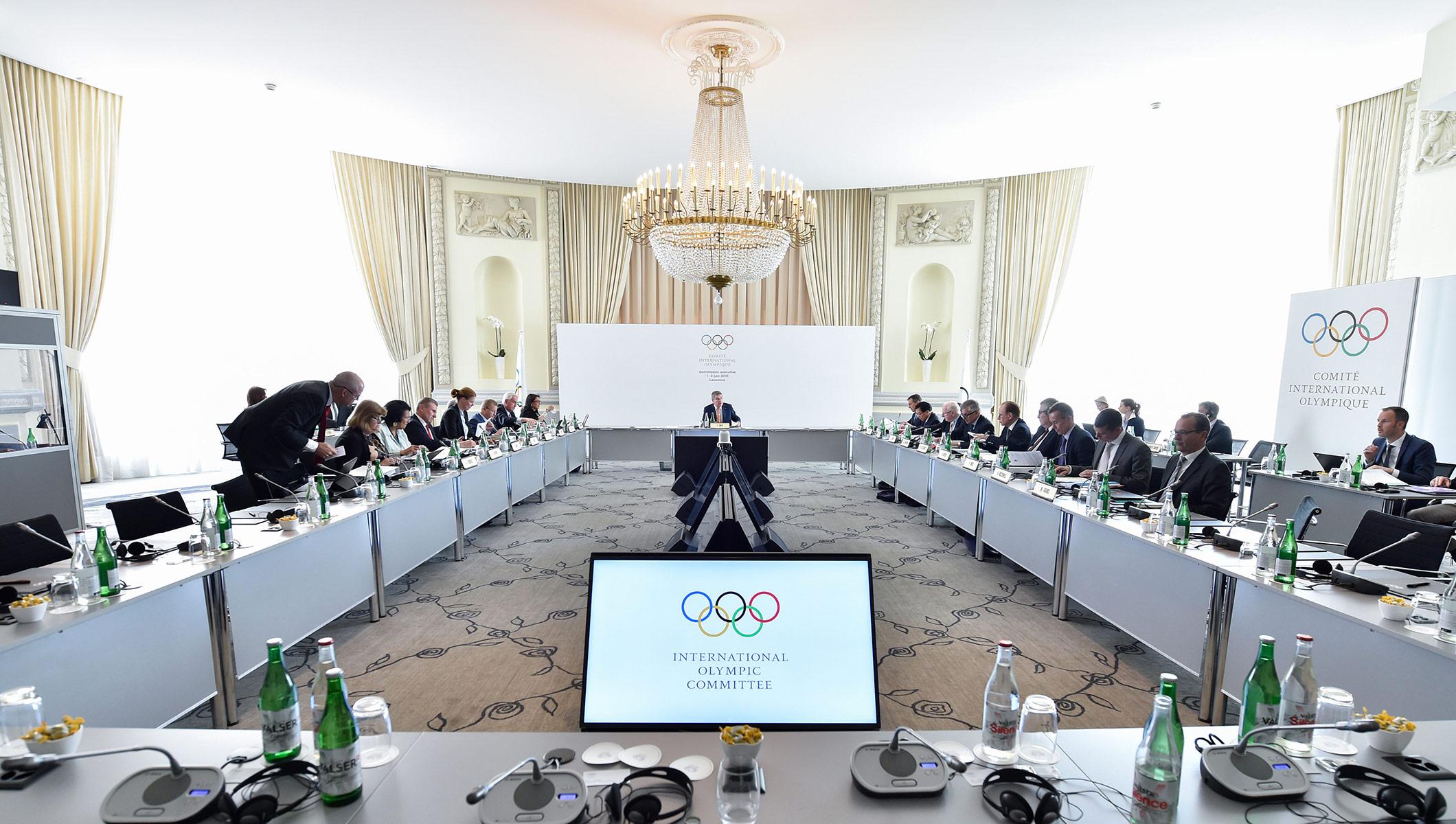 IOC Executive Board meeting, Lausanne, June 1, 2016