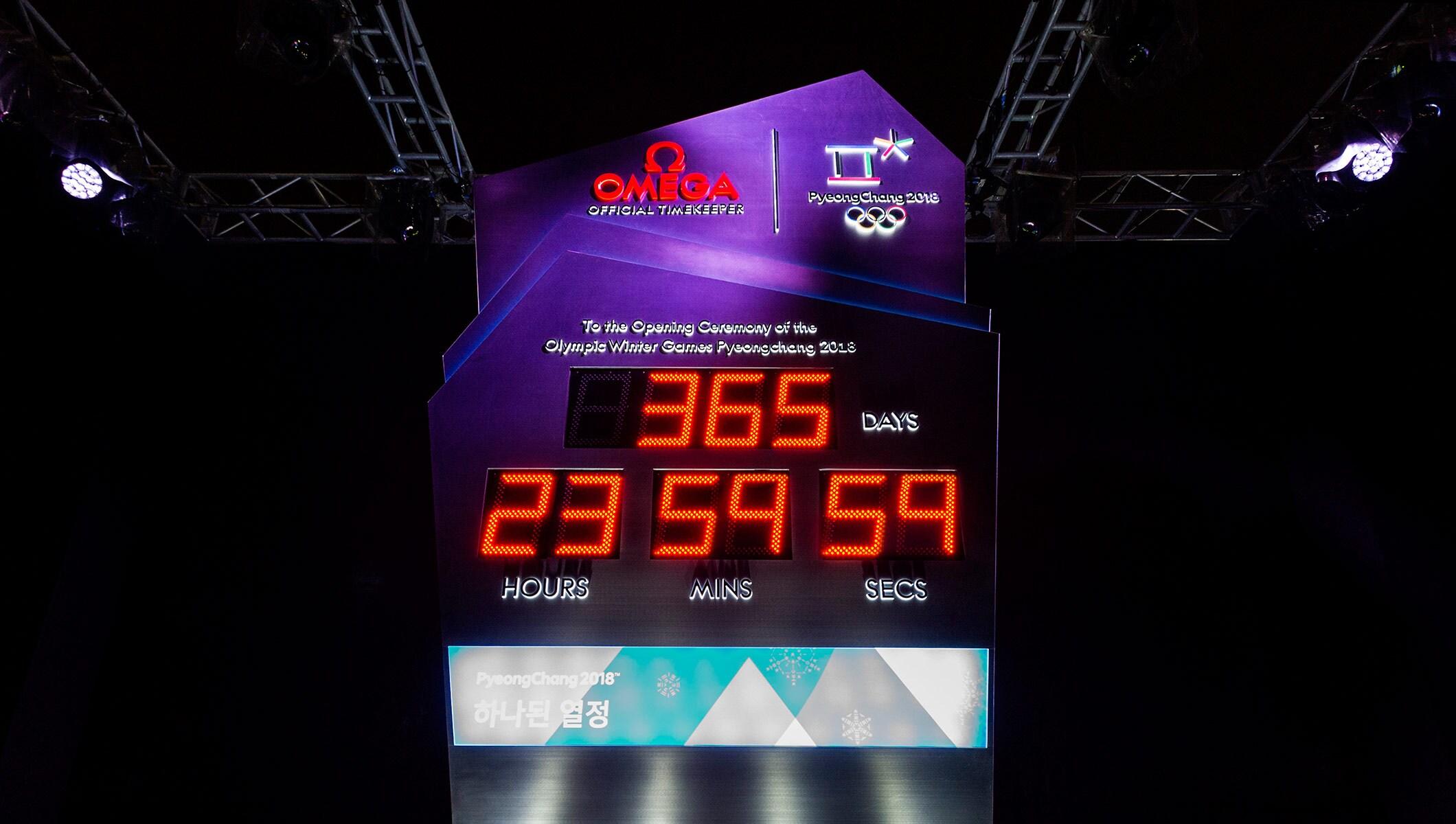 PyeongChang 2018 Countdown Clock