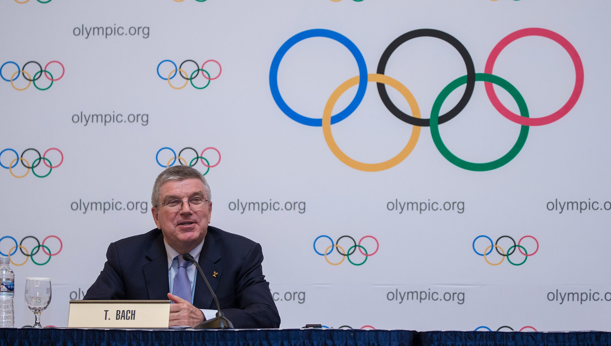 IOC President Thomas Bach Press Conference PyeongChang 2018