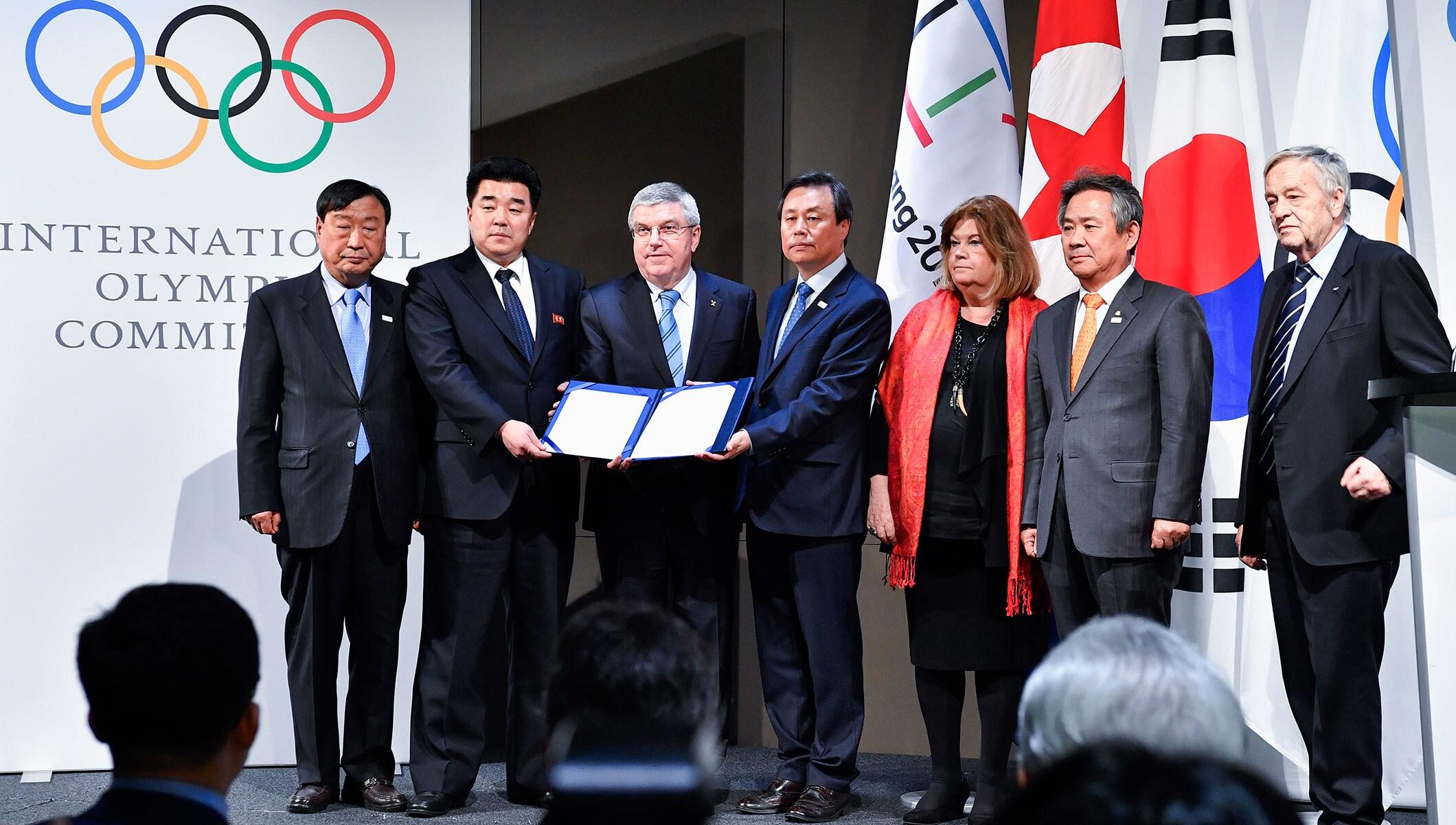 Une équipe olympique coréenne unifiée défilera aux Jeux Olympiques d'hiver de PyeongChang 2018