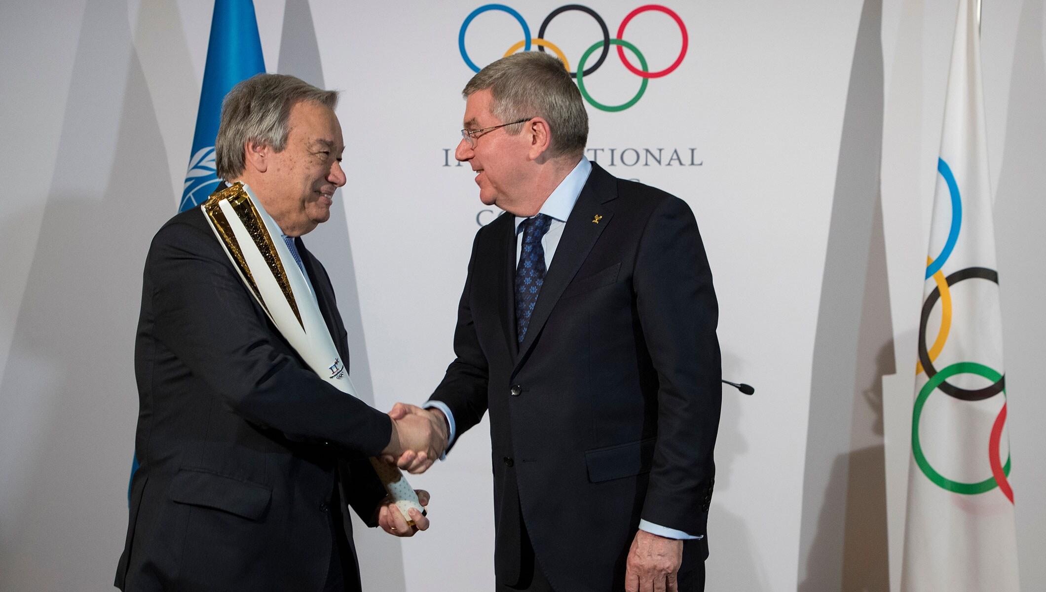 United Nations Secretary-General praises IOC