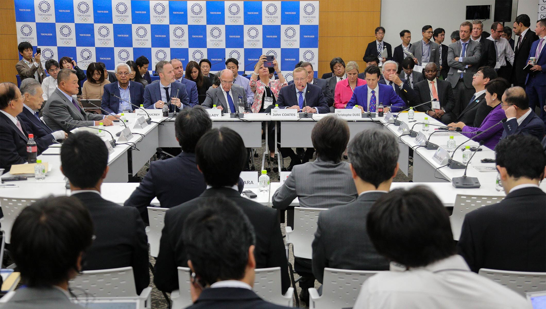 The IOC Coordination Commission members during the meeting