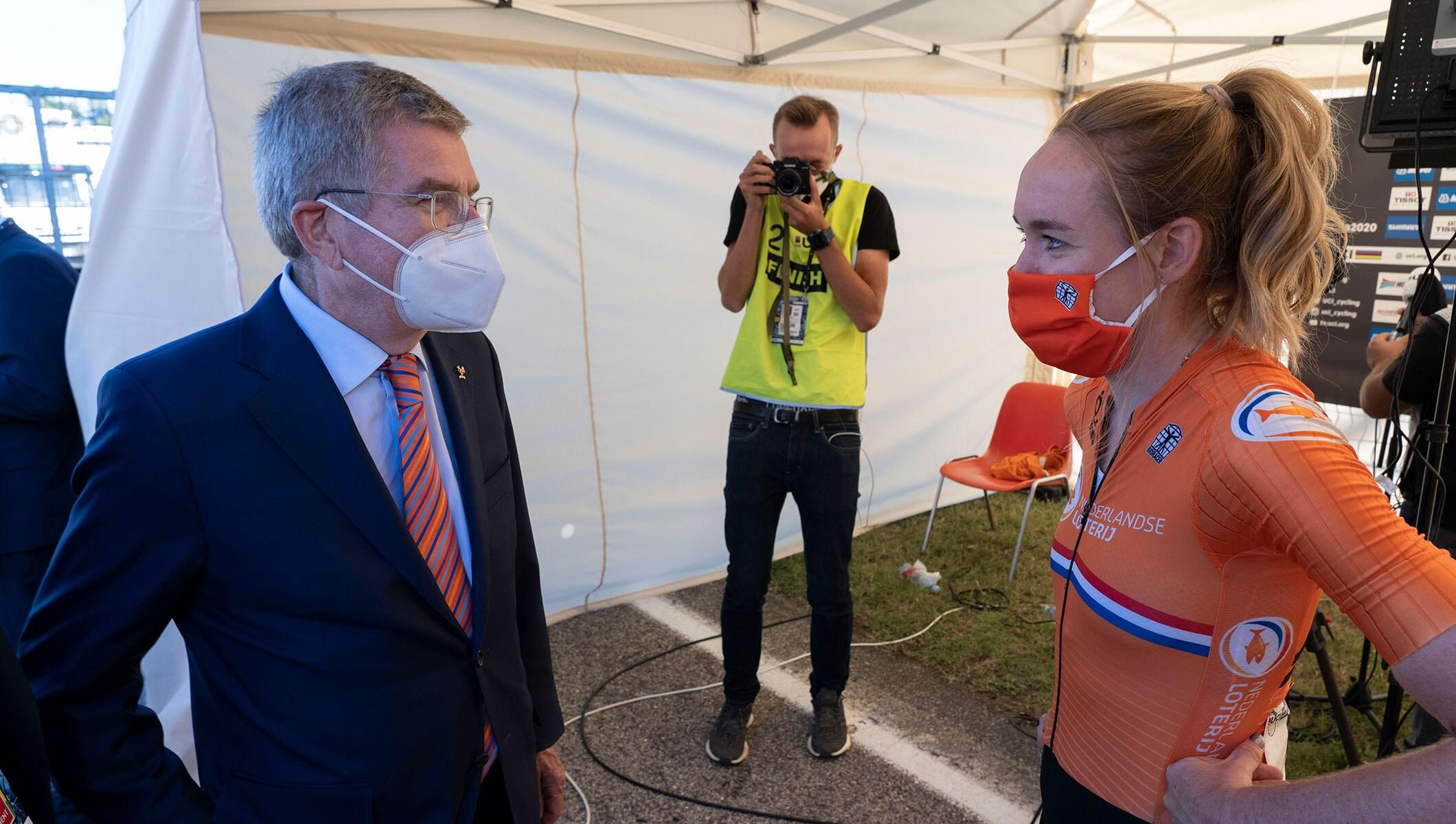 President Bach visits UCI Road World Championships