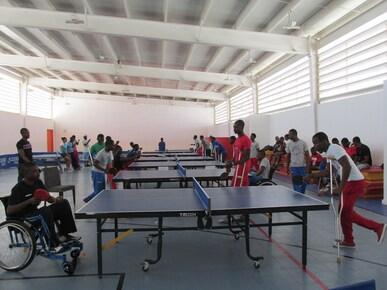 Para Tennis de Table: IOC SPORT FOR HOPE PROGRAMME. PORT-AU-PRINCE (HAITI).
